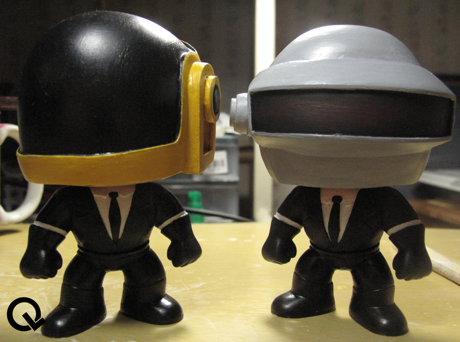 Daft Punk Toy Custom Funko Pop Quarklit